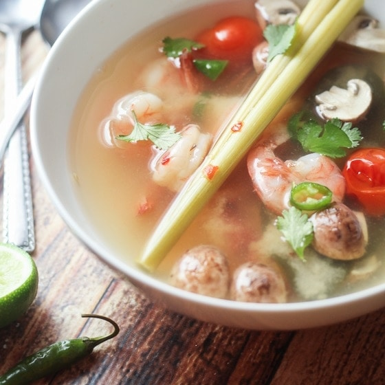 Thai Tom Yum Soup With Shrimp The Wanderlust Kitchen
