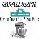 KitchenAid Stand Mixer Giveaway!