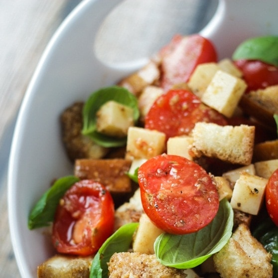 Caprese Panzanella (Bread Salad) - The Wanderlust Kitchen