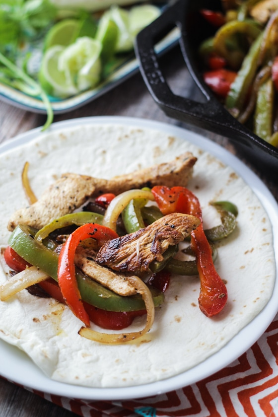 "Tequila & Lime ""Margarita"" Chicken Fajitas - awesome way to upgrade your fajita recipe!"