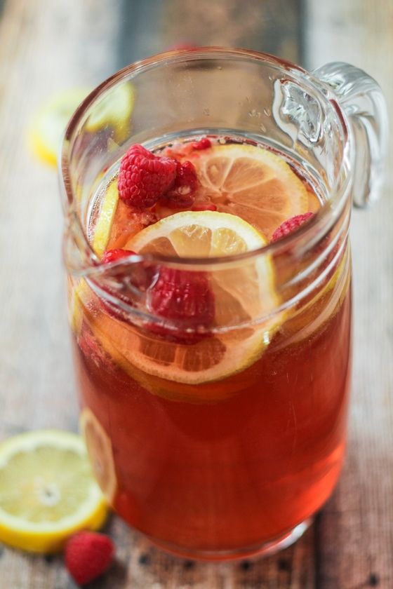 Raspberry-Lemon Blush Sangria Spritzers!