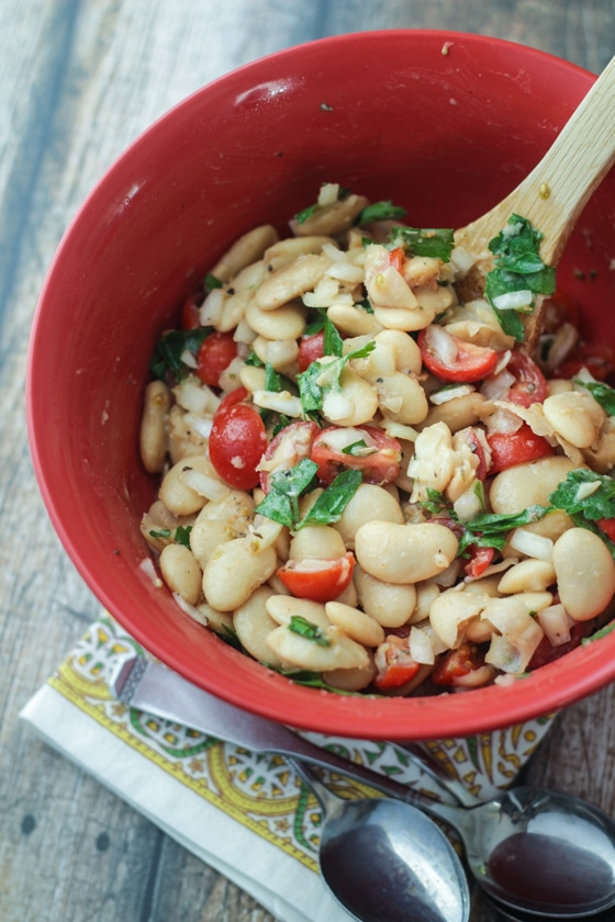 Uruguayan Bean Salad - so stupidly simple, you'll laugh at how good it is!