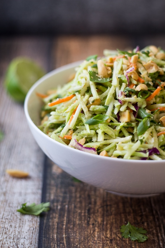 Easiest Ever 5-Minute Thai Peanut Ginger Slaw