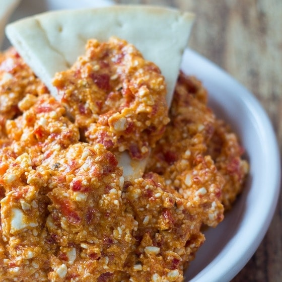 5 Minute Greek Feta and Red Pepper Dip