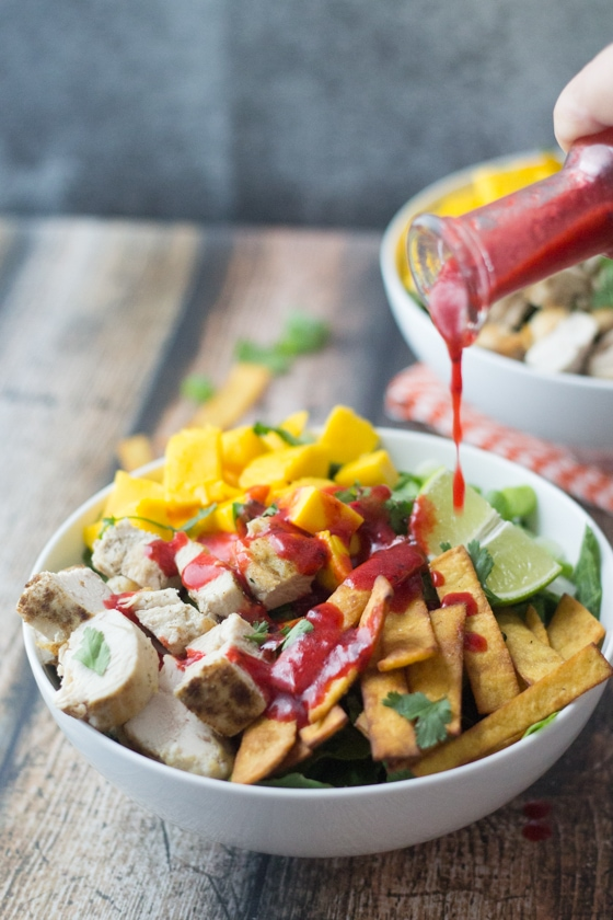 Mexican Chicken Salad with Chipotle Raspberry Dressing - The most under-loved recipes on my site!