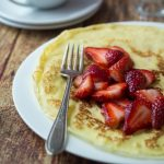 Homemade Swedish Pancakes with Strawberries