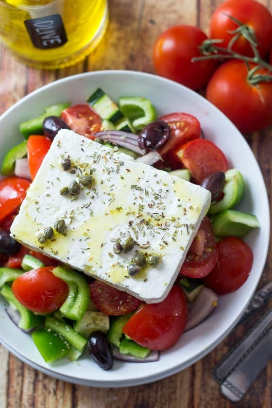 Classic Greek Salad - made the REAL Greek way.