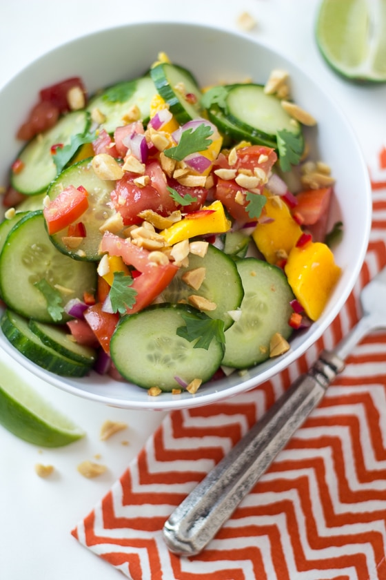 East African Mango & Cucumber Salad - easy, delicious, and totally different!