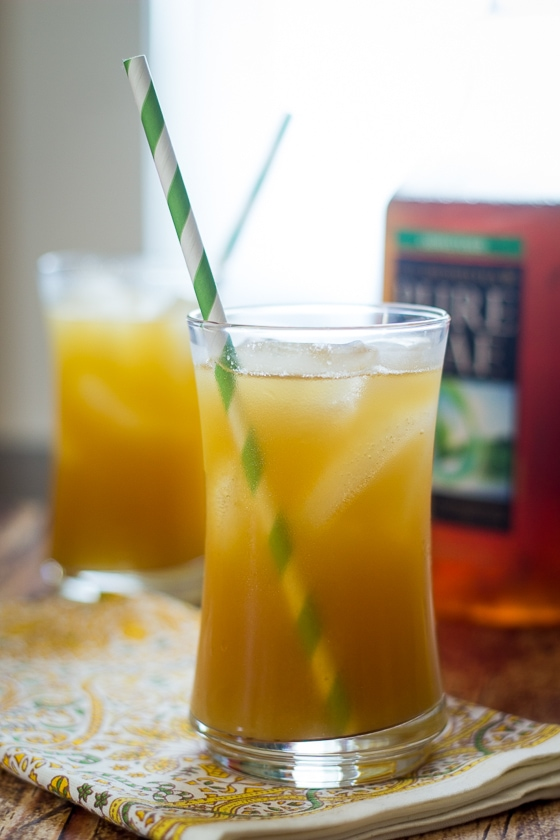 This Pineapple Iced Tea recipe combines fresh pineapple, ginger and unsweetened iced tea for a delicious and refreshing pineapple tea drink.