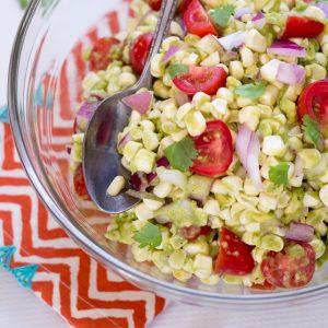 Southwest Corn, Tomato, and Avocado Salad