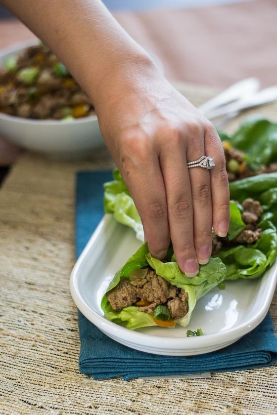 Easy Asian Lettuce Wraps - part of 30 Minute Mondays!