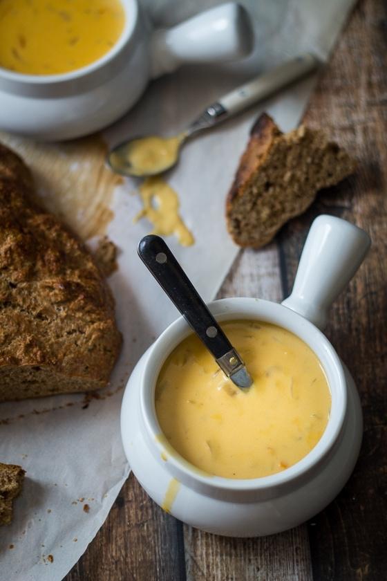 30 Minute German Beer Cheese Soup Recipe (Oktoberfest!)