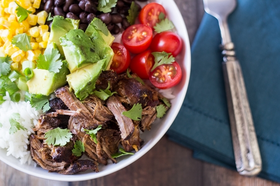 How to serve barbacoa you ask? In these delicious Barbacoa Beef Bowls - no big deal, only the best thing you'll ever eat.