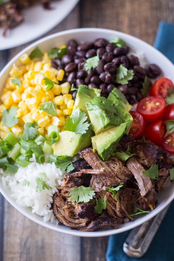 What to serve with beef barbacoa?  Learn from this Barbacoa Beef Bowl recipe - no big deal, only the best thing you'll ever eat.