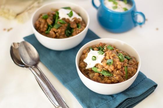 Slow Cooked Garam Masala Lentil Soup