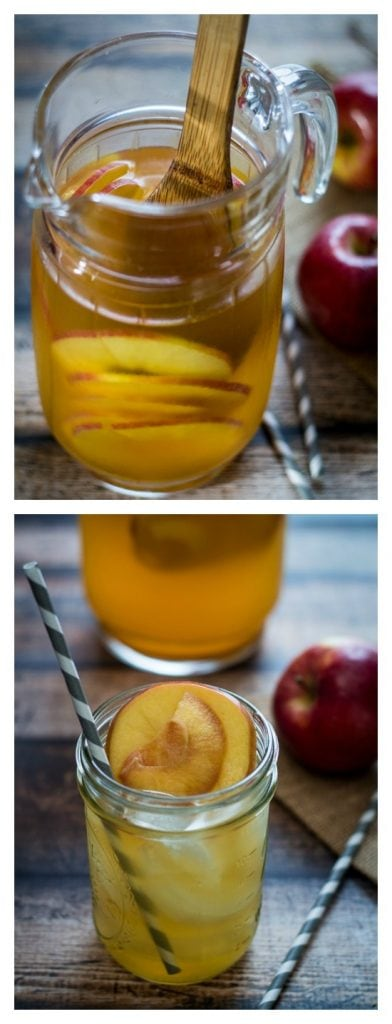 This delicious Caramel Apple Sangria recipe brings together apple slices, dry white wine, sweet white wine, apple cider and caramel vodka for a crisp, caramel apple taste!