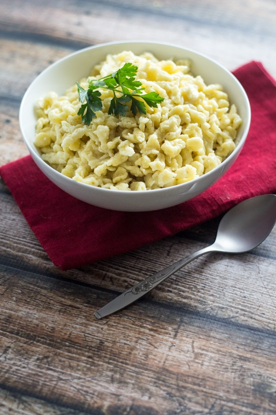 Homemade German Spaetzle - an easy 15-minute pasta that goes with everything!