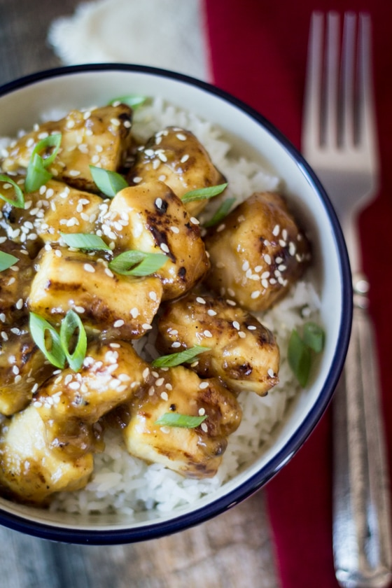 This easy, Chinese Lemon Chicken recipe healthy is so delicious featuring lemon and ginger sauce, you will like it better than take out and its ready in 30 minutes!