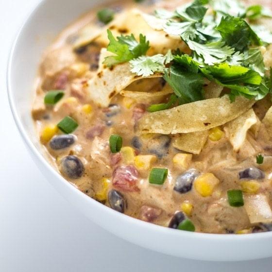 Creamy Chicken Enchilada Soup - 12 Easy Cinco de Mayo Recipes