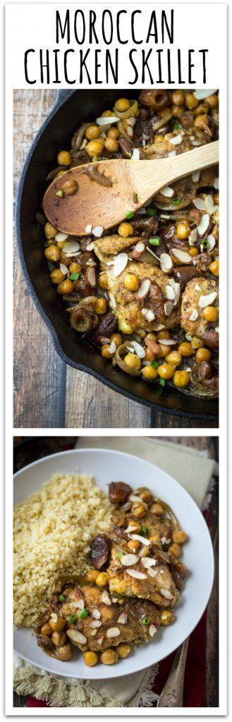 30 Minute Easy Moroccan Chicken Skillet - have dinner in Casablanca tonight!