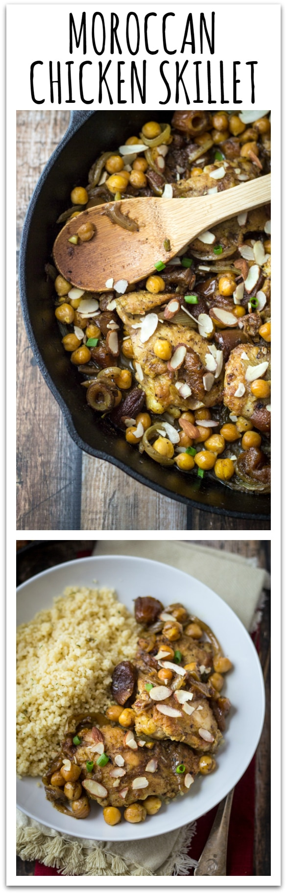 30 Minute Easy Moroccan Chicken Skillet - have dinner in Casablanca tonight!