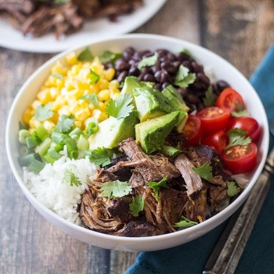 Barbacoa Beef Bowls - The Wanderlust Kitchen