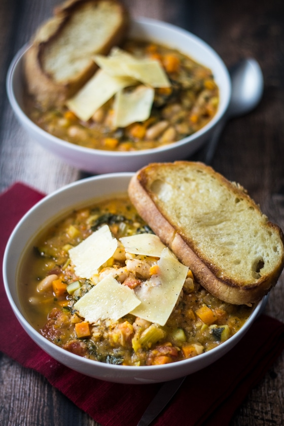 Easy Tuscan Bean Soup (30 Minute Mondays!)