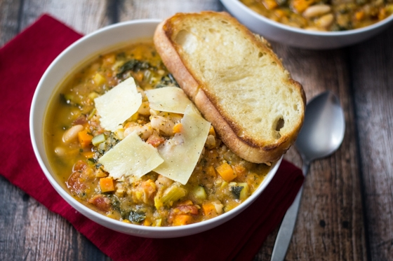 Easy Tuscan Bean Soup (30 Minute Mondays!) This is one of many easy soup recipes on The Wanderlust Kitchen!