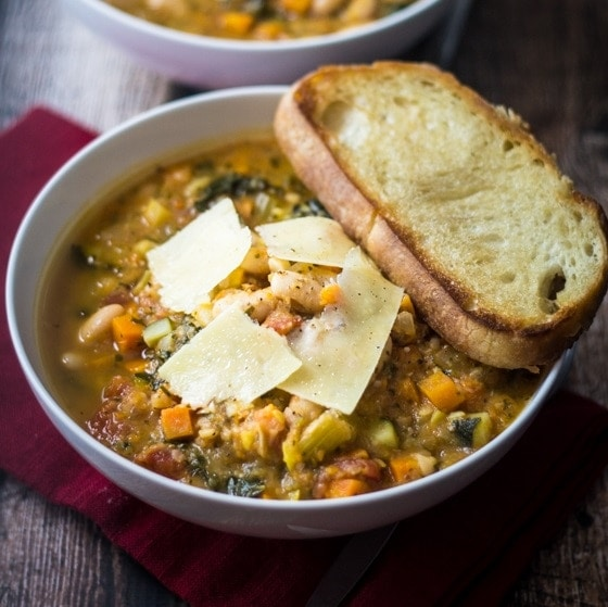 Easy Tuscan Bean Soup - The Wanderlust Kitchen