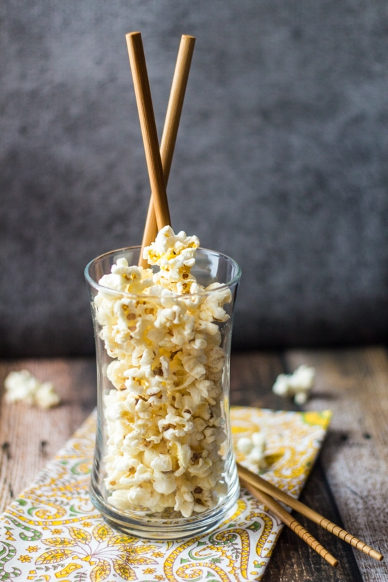 10 Minute Wasabi Ginger Pop Corn