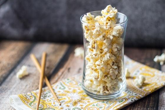 10 Minute Ginger Wasabi Popcorn