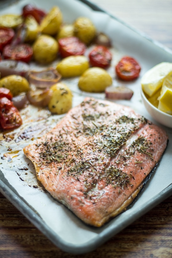 30 Minute Roast Salmon Provencal - an easy and elegant dinner solution!