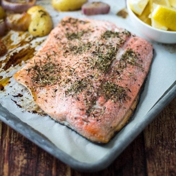 Roast Salmon Provencal - The Wanderlust Kitchen
