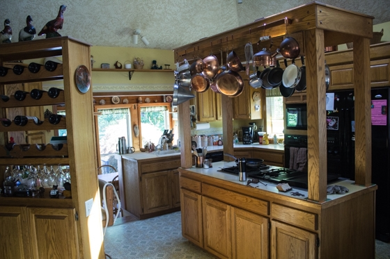 The Kitchen - beautiful copper pots and pans, right?