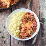Spicy Basque Chicken with Saffron Rice