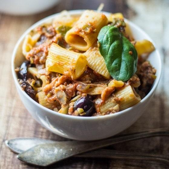 Rigatoni Mediterranean Casserole - The Wanderlust Kitchen