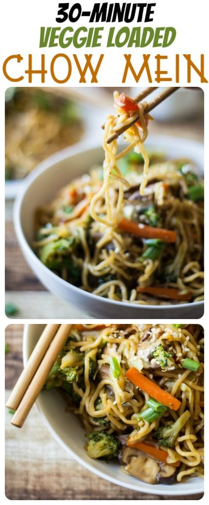 This delicious, healthy chow mein recipe bulks up your noodles with a nutrient boost of fresh mushrooms, broccoli, carrots and cabbage!