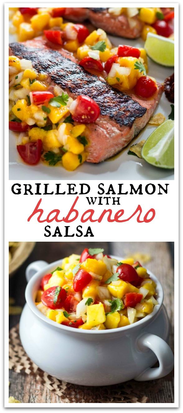 Sweet mangoes temper the hot habanero salsa in this flavorful Mango Habanero Salmon recipe!