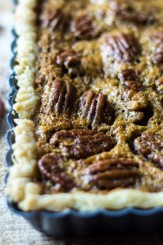 Forgiving and ultra-decadent, this easy bourbon pecan tart is the perfect finale to your holiday meal!