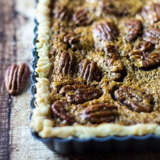 Easy Bourbon Pecan Tart - The Wanderlust Kitchen