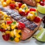 Grilled Salmon with Mango Habanero Salsa