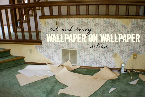Wallpaper removal in home renovation. Completing your own demolition can save you a boatload of money, but isn't for the faint of heart. Put on some grubby clothes, pull on your gloves, and let's get to work!