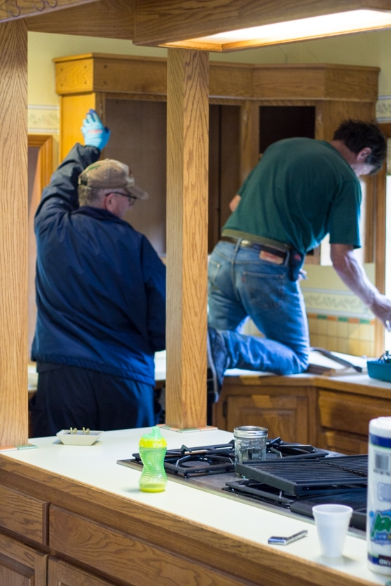 Want to learn how to demo a kitchen? Completing your own demolition can save you a boatload of money, but isn't for the faint of heart. Put on some grubby clothes, pull on your gloves, and let's get to work!