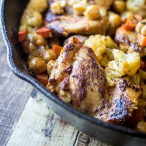 One Pan Roasted Harissa Chicken