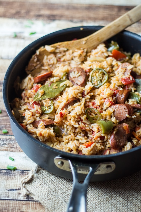 One Pot Spicy Southern Sausage and Rice - The Wanderlust Kitchen