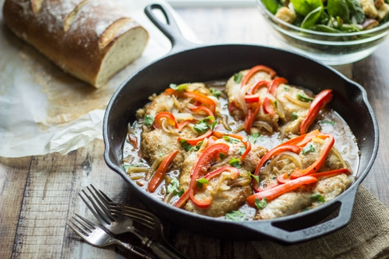 Bright red peppers and robust wine make this simple Tuscan Chicken Marsala both colorful and tasty!