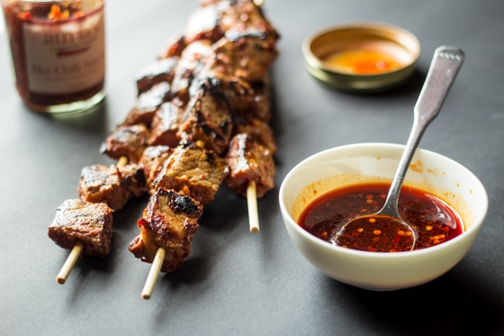 Paired with a sweet and sour dipping sauce, this Fiery Malaysian Beef Satay will keep you coming back for more!
