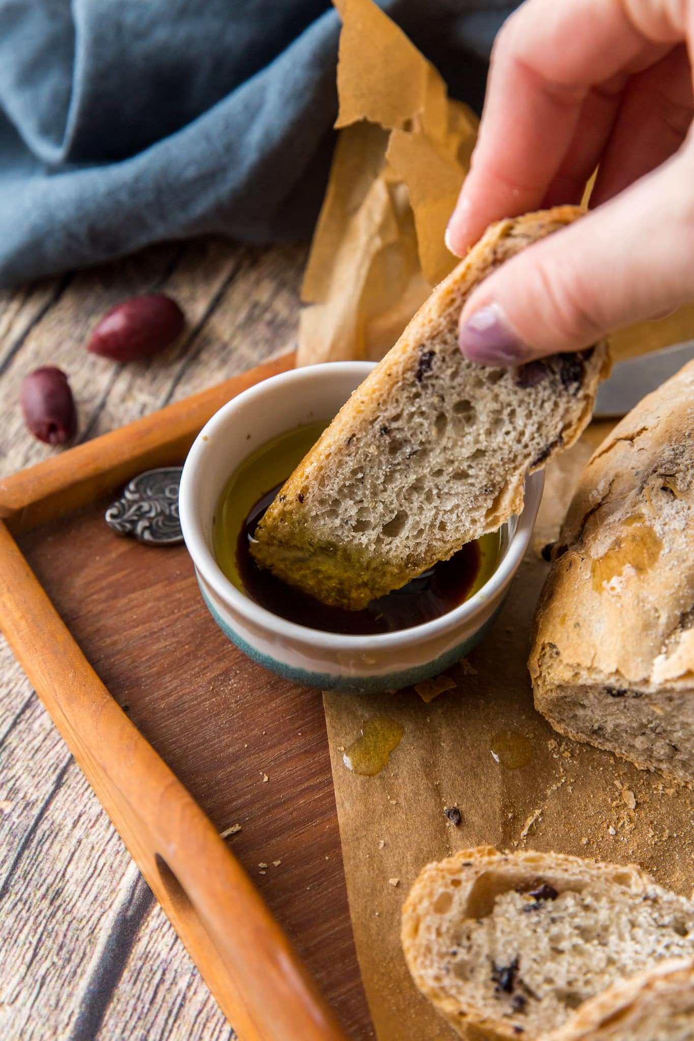 Easy Rustic Olive Bread - The Wanderlust Kitchen