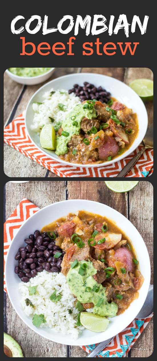 Colombian Beef Soup (Carne Guisada) - I could put that creamy avocado-cilantro sauce on ANYTHING!