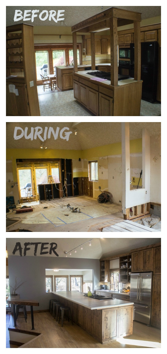 House remodel before and after the big reveal the wanderlust kitchen for Before and after home exteriors remodels